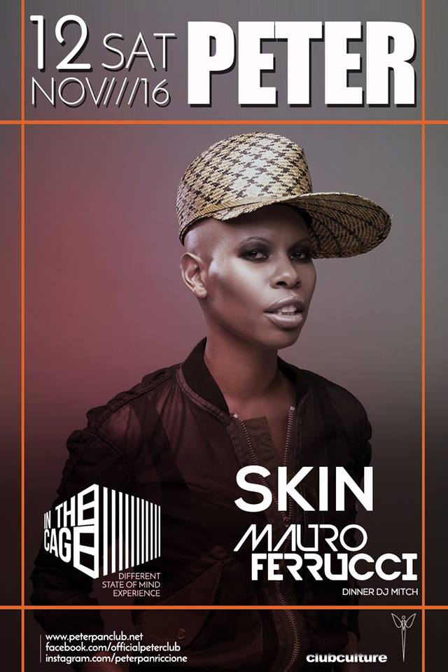 SABATO 12 NOVEMBRE SKIN AT PETER