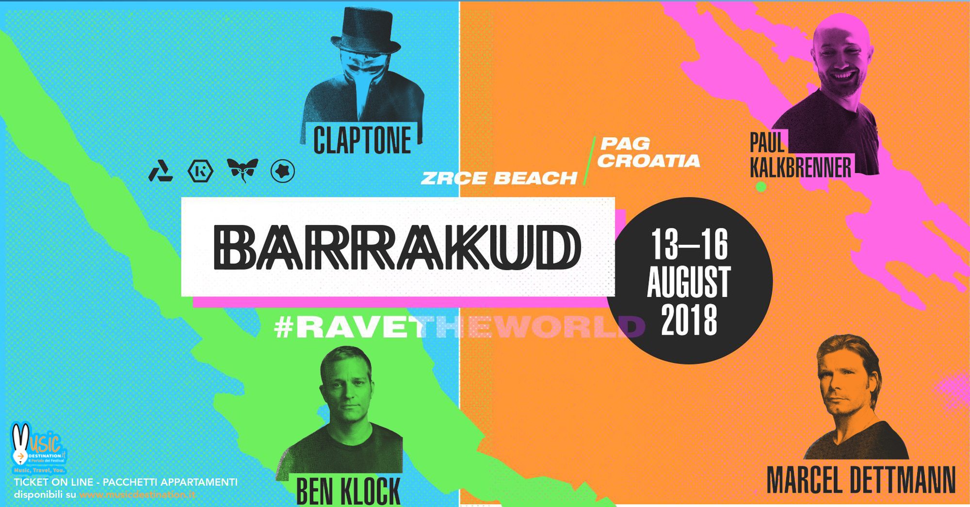 barrakud festival 2018 pag LINEUP ticket pacchetti