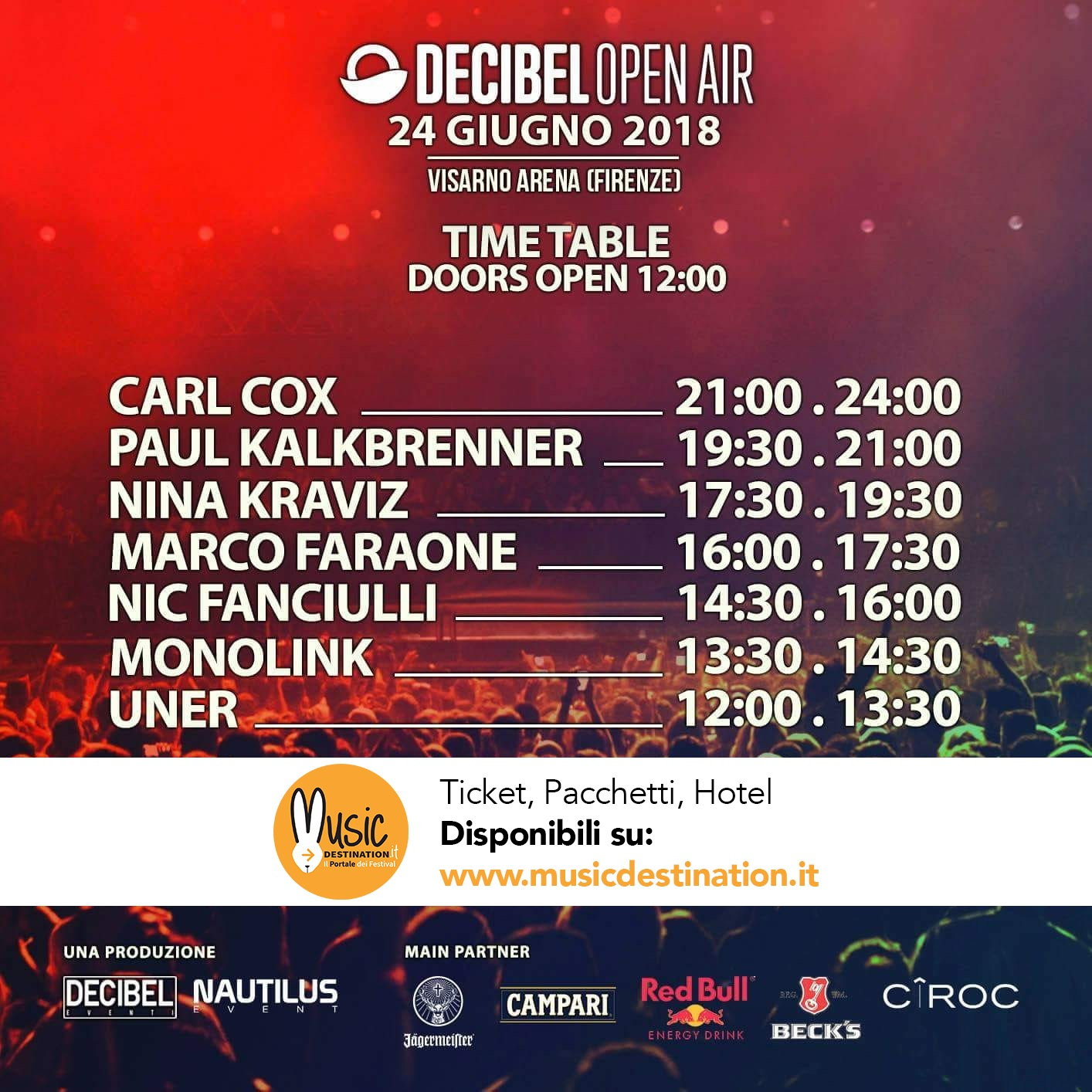 Time Table Line-Up Decibel Open Air
